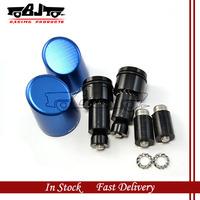 BJ- HBE-009 Blue color Motorbike Aluminum Handlebar bar Grips Bar Ends Sliders for yamaha v-max