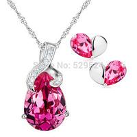 The Crystal Necklace  925 silver jewelry set wedding jewelry birthday gift