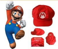 Wholesale cartoon High Quality Super Mario cap Cosplay Hat Super Mario Outdoor travel sun hat ,The child's gift ,20pcs/lot