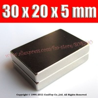 2014 sale promotion  sheet 2pcs  craft model powerful strong rare earth ndfeb magnet neo neodymium n40 magnets 30 x 20 5 m