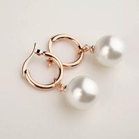 Italina Simple design women jewelry/pearl 18k gold planted drop earrings WL0708