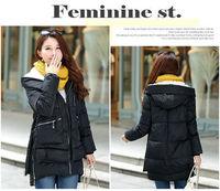New 2014 Brand Winter Hooded Down Jacket  Women Slim Long Down Jacket High quality Women Blouse Coat Jaqueta Feminina