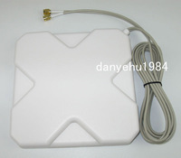 Free Shipping New 3Pcs  2M Cable 791 2690MHz  Booster Signal GPRS GSM 3G 4G LTE SMA Plug 35dBi Antenna White