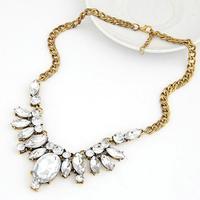 Celebrity Style Crystal Jewelry Necklace Choker 2014 Acrylic Rhinestone Brand Necklace For Women
