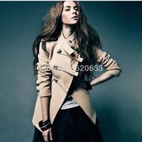 Scolour Fashion Women Long Sleeve Double-Breasted Short Coat Jacket Outwear Freeshipping