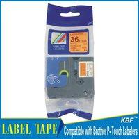 Cheap China 36mm black on fluorescent orange tz label tape tz-b61