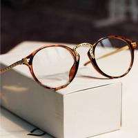 Vintage brand plain mirror glasses frames new 2014 fashion Women metal hello kittty eyeglasses clear glasses .Y46