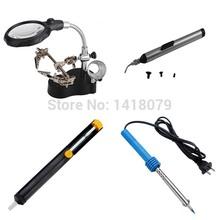 Grátis frete nova alta qualidade 3.5x 12x terceiro Helping Hand clipe LED ampliação ferro de solda fique Len Magnifier(China (Mainland))