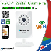 720P IP Camera H.264 Support SDCard 1.3MegaPixel LENS and IRCut Best NightVision Vstarcam T7892WIP 720P Wifi  IP Camera Wireless