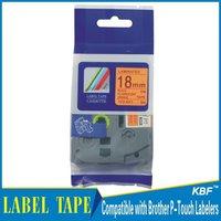 Cheap China 18mm black on fluorescent orange tz label tape tz-b41
