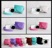 Free Shpping New PU Leather Camera Bag For Samsung NX Mini Camera With 9mm-27mm Lens 7 Colors Choose!