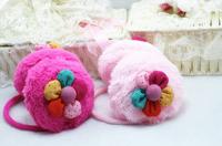 Free Shipping Fall Winter Flowers Fur Ear Warmer Cover Earmuffs For Children Adult