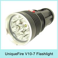 UniqueFire King 5000 Lumen 7x CREE XM-L L2  LED Flashlight Lamp High Power Super Bright Torch For Camping UF-V10-7 Waterproof