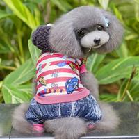 Pet Dog Cartoon Cotton Clothes Thicken Warm Hoodie Coat Jacket