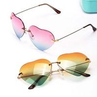 Vogue Women Girls Heart Shaped Sunglasses Metal Frame Design Sunglasses EyewearFree&Drop Shipping