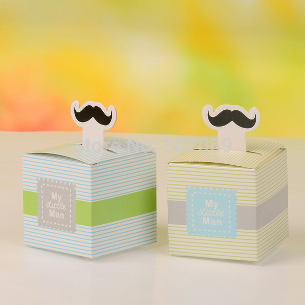 """""""My Little Man"""" Moustache wedding favor box, Gift favor packaging NEW(China (Mainland))"""
