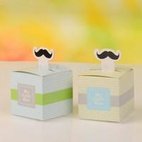 """My Little Man"" Moustache wedding favor box, Gift favor packaging NEW"