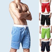 Men's Pocket Board Shorts Pants Sports Surf Trunks Beach Swimwear Boxers M L XLFree&Drop Shipping