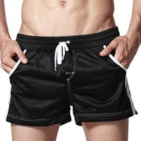 Men's Rope Tie Trunks Polyester Underwear Beachwear Boxers Pockets M L XLFree&Drop Shipping