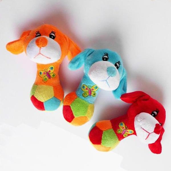[해외]귀여운 작은 강아지 머리 스타일 소프트 개 장난감 애완 동물..
