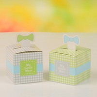 """My Little Man"" Bow Wedding Favor Box, Favor Packaging Gift Box"