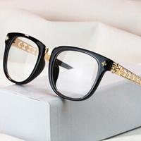 brand D gold glasses frames men 2014 fashion eyeglasses frames men radiation-resistant mirror eye glasses oculos de grau women