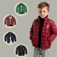 New 2014 Winter Children's Clothing Fashion Cool Short Boys Outerwear Standing Collar Warm Jackets For Boys 4 Colors 3-9