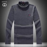 New Hot Sales Men Long Sleeve Turtlrneck  Black  White Solid T Shirt  Mr. Fashion Brand Cotton M L XL XXXL t Shirt 1016-3