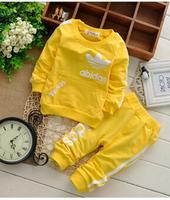 4PCS/LOT Spring Autumn KIDS 0-3year Sport suit children baby boy girl long sleeve T shirt+kids pants clothing 2pcs clothes sets