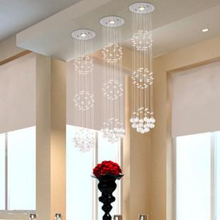 Chandelier Crystal K9 LED Bulb Save Energy 3 Balls Export Order High Quality Charming Minimalist Dining Room Restaurant Hanging(China (Mainland))