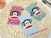 new fashion canvas bag women card holder monkey style free shipping