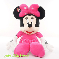 Hot Sale 1pcs 75cm Large Lovely Mickey And Minnie Plush Dolls High Quality Stuffed Toys Birthday Gifts Free Shipping