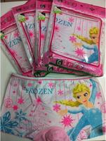 Wholesale 3pc/lot cartoon frozen elsa princess pink cotton baby girl underwear kids briefs child panties girl clothing 4-11Age