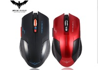 5pcs/lot RF 2.4GHz Portable  Wireless Mouse USB Receiver 6 Keys 2400dpi Black, Red Color Free Shipping+Drop Shipping Wholesale