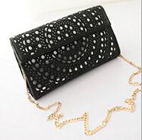 Fashion 2014 winter new European style hollow wave packet women Clutch handbags Shoulder Messenger Bag 26*15*5cm SJ-45