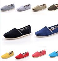 Unisex canvas shoes flat shoes lazy 35-45