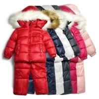 New 2014 Children's Winter Clothing Set Boy Girl baby kids Ski Suit Windproof Flower Warm Coats Fur Jackets+Bib Pants