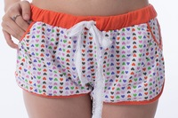 Free shipping  Women leisure hot pants Alibaba express pyjamas trousers women wear 100% cotton Printed cotton shorts