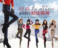 Female plus size Winter Plus Thick Velvet Down Pants Warm Stretch Pencil Pants woman Warm ACandy down Trousers R96 E511 8228