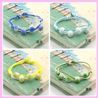 Bracelets & Bangles Handmade Knitted Bracelet Bangles Ceramic Fish-eye Bracelet jewelry Binglie Shamballa Bracelets