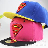 Children's baby summer hat hip level along Superman cartoon cute sun hat baseball cap