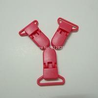 "25pcs 1"" 25mm Wide B33 HOT PINK Color Kam Plastic Pacifier Clips"