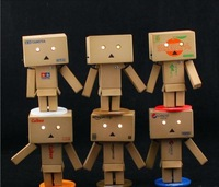 Free Shipping Lovely Danboard Mini PVC Action Figure Toy Danbo Doll with LED Light Amazon Style 8cm OTFG081