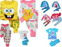 NEW Christmas lus velvet Frozen Baby Toddler Kid's Boys Girls Sleepwear Pajama Set Pant Size 2T-7T