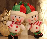 26cm Merry Christmas Decoration New year arvore de natal Tree Rag Doll Children Toys Snowman Santa Claus Ornament navidad Gifts