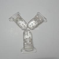 """25pcs 1"""" 25mm Wide CLEAR Color Kam Plastic Pacifier Clips"""