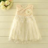 2014 New autumn,girls princess dress,children fashion dot vest dress,brooch,lace,beads,3 colors,5 pcs/lot,wholesale,1819