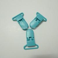 """25pcs 1"""" 25mm Wide B46 TEAL Color Kam Plastic Pacifier Clips"""