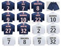 2015 Player Version Ibra Home IBRAHIMOVIC Cavani Soccer Jersey A+++ 14 15 Away SILVA LUCAS DAVID LUIZ Maillot Football Shirt