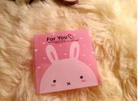 500pcs 10x13cm 10x10+3cm Pink Rabbit For You Food Cookie Bag Self Adhesive Seal Bag Plastic OPP Bag Jewelry Gift Poly Bag